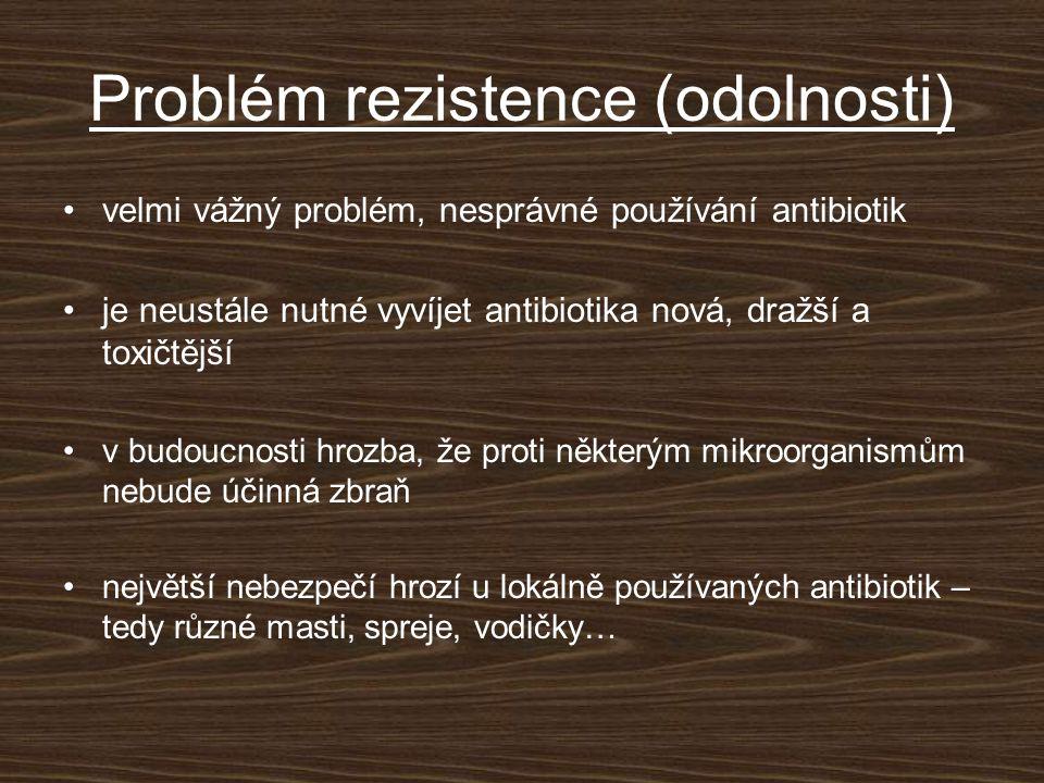 Problém rezistence (odolnosti)