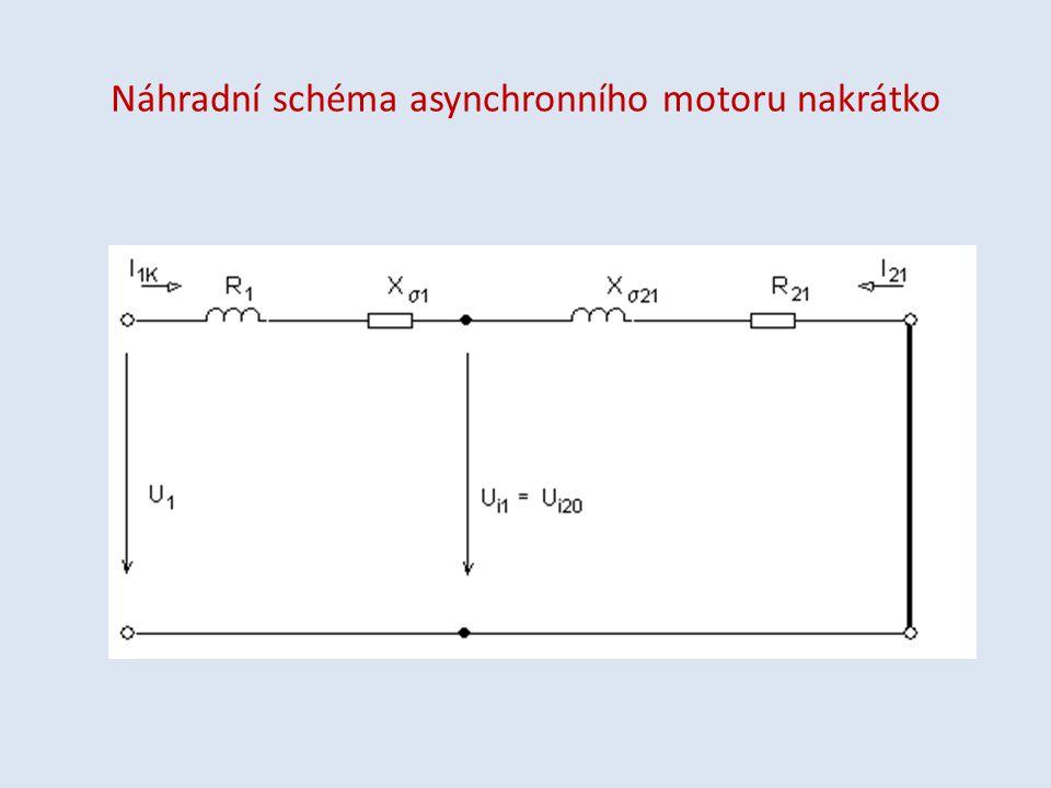 Náhradní schéma asynchronního motoru nakrátko