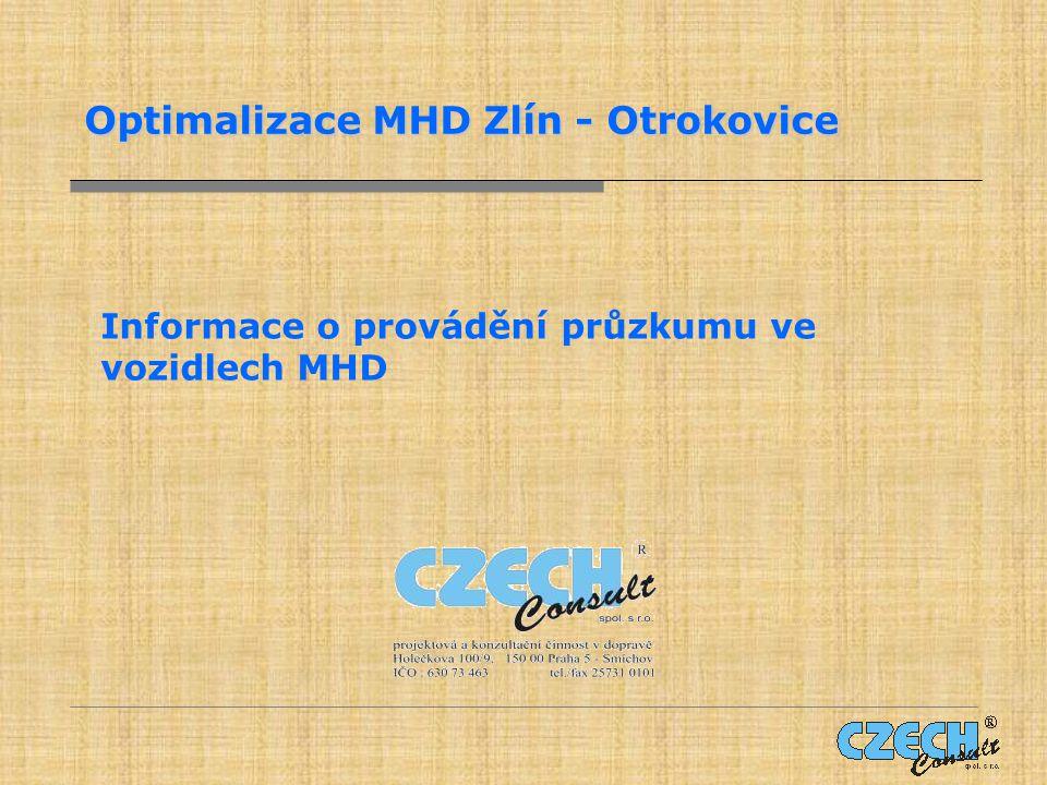 Optimalizace MHD Zlín - Otrokovice