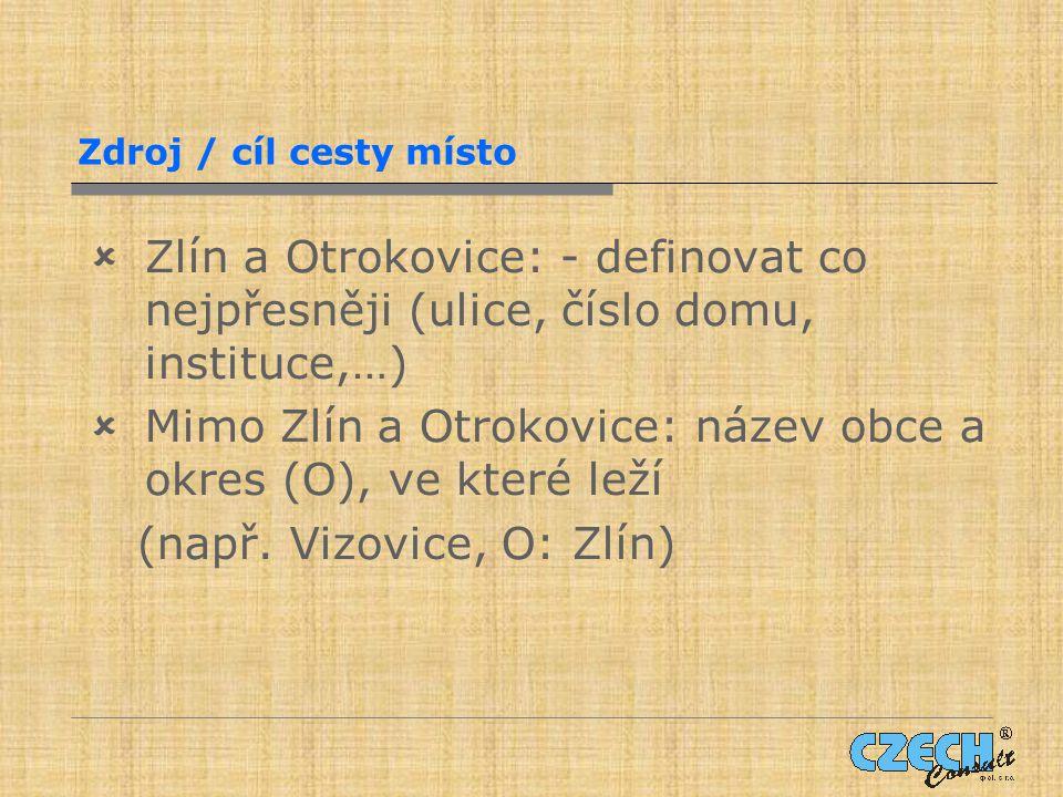 Mimo Zlín a Otrokovice: název obce a okres (O), ve které leží