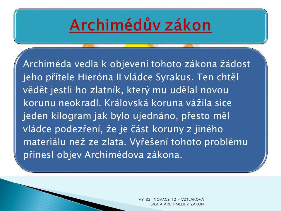 Archimédův zákon