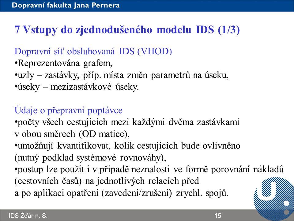 7 Vstupy do zjednodušeného modelu IDS (1/3)