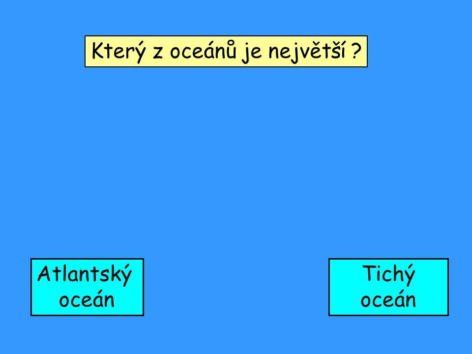 Který z oceánů je největší