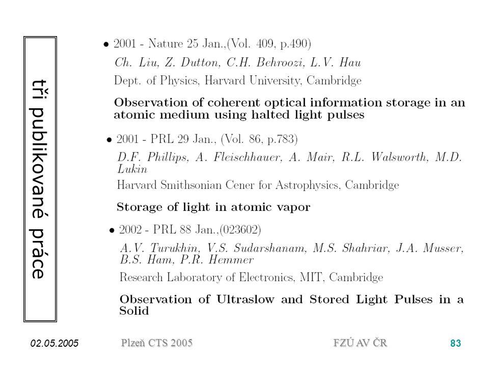 tři publikované práce 02.05.2005.