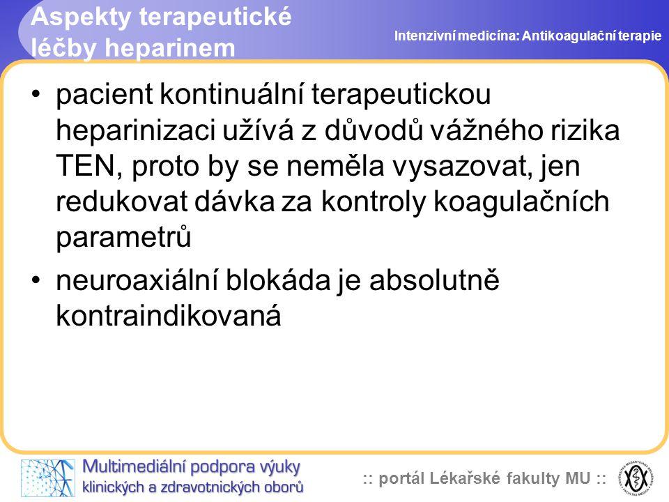 Aspekty terapeutické léčby heparinem