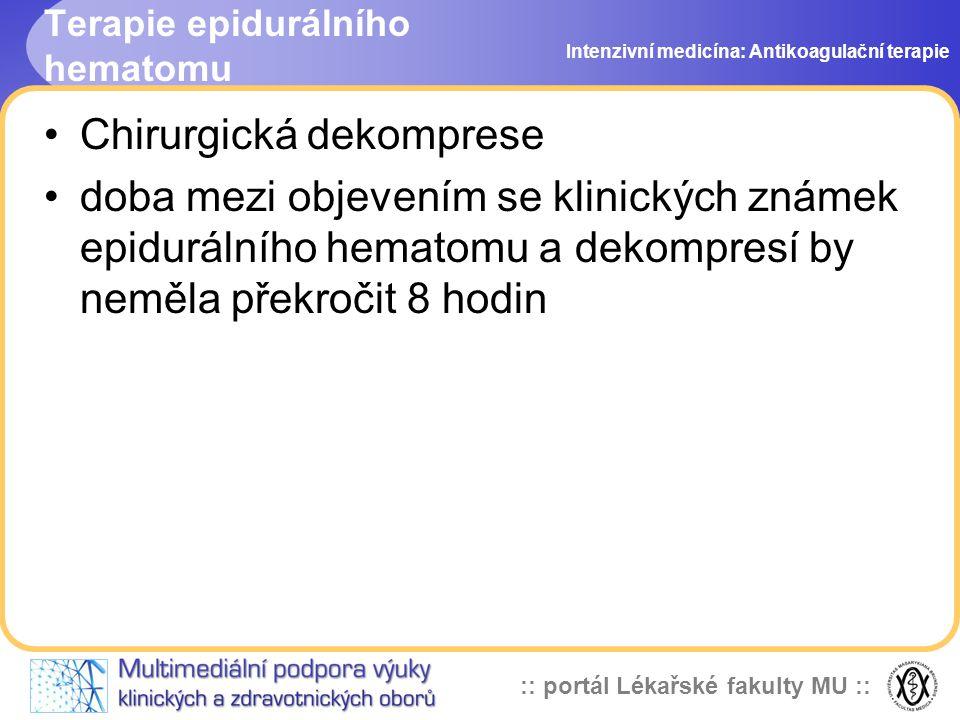 Terapie epidurálního hematomu