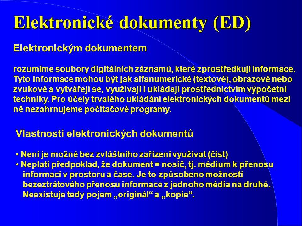 Elektronické dokumenty (ED)