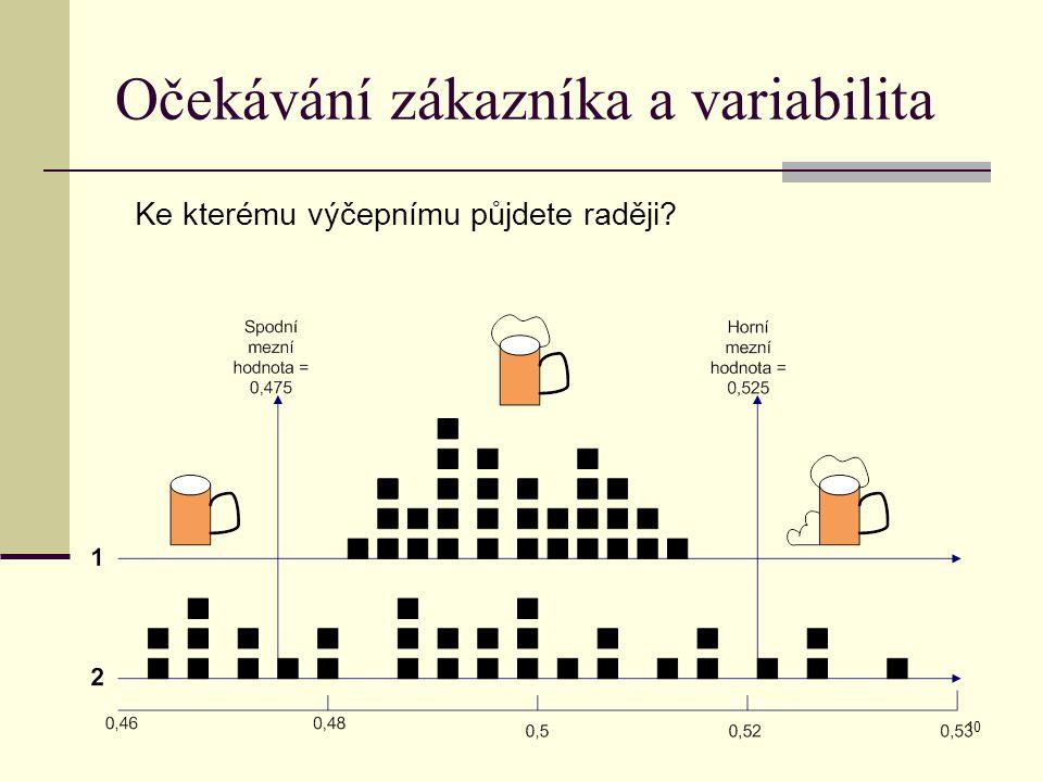 Očekávání zákazníka a variabilita