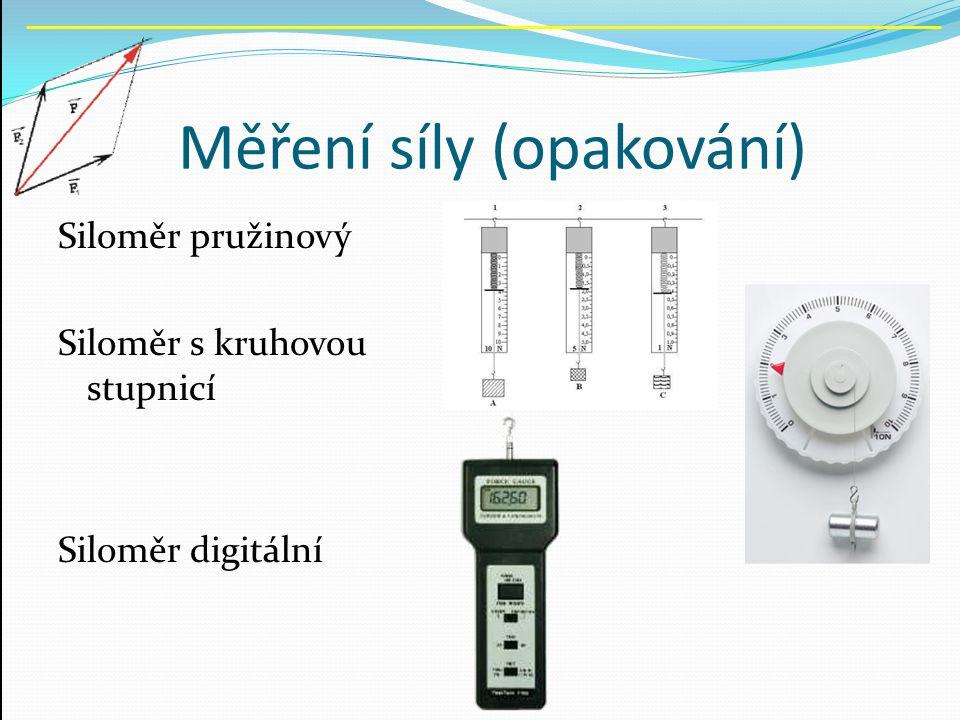Měření síly (opakování)