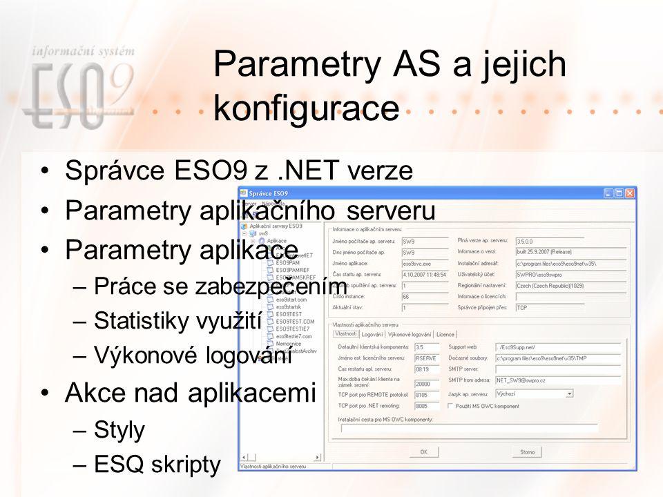 Parametry AS a jejich konfigurace