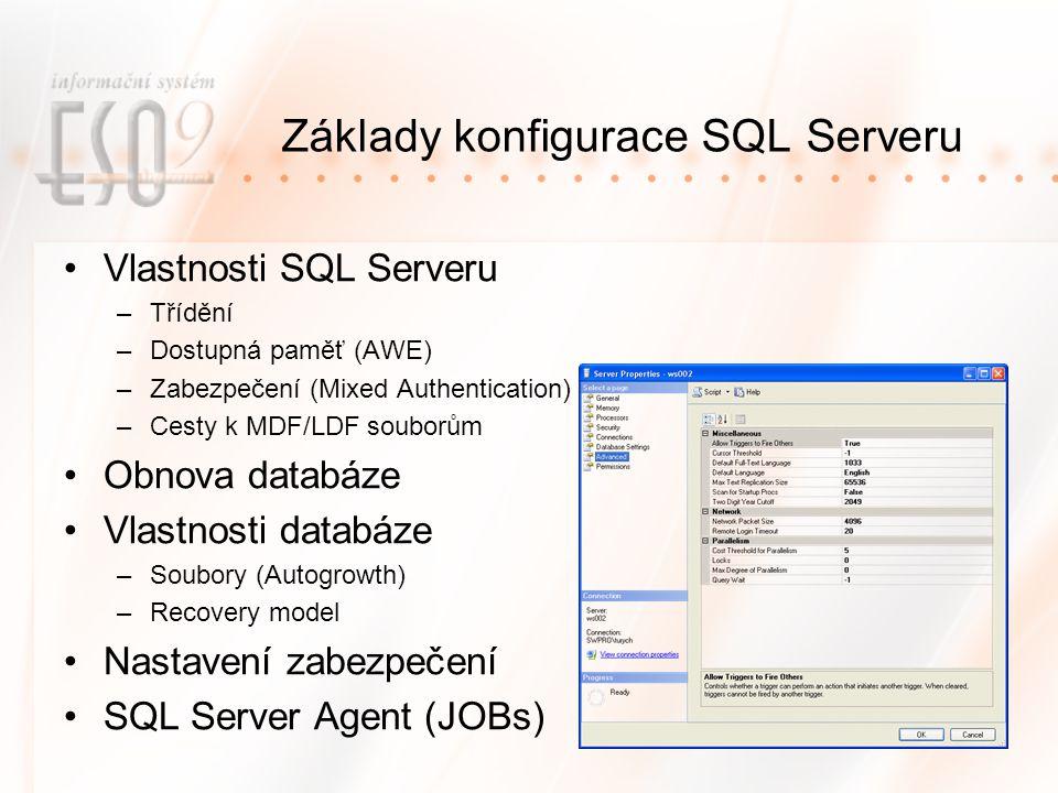Základy konfigurace SQL Serveru