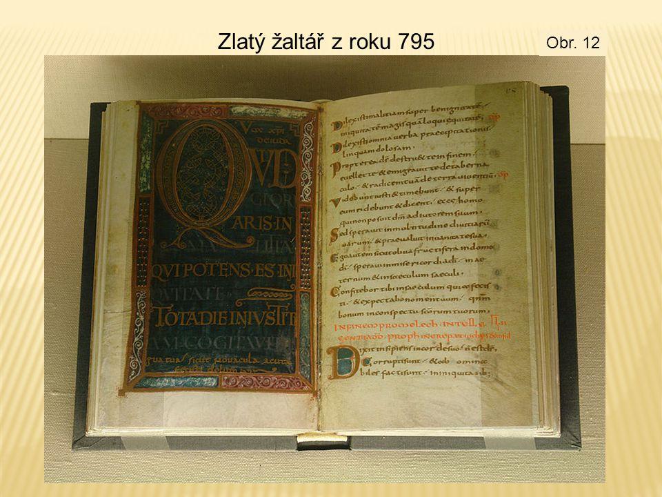 Zlatý žaltář z roku 795 Obr. 12