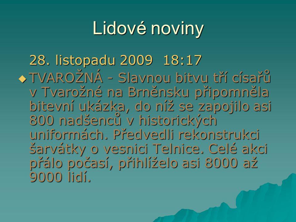 Lidové noviny 28. listopadu 2009 18:17