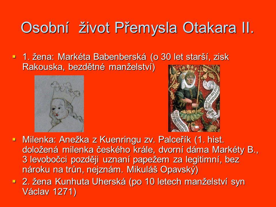 Osobní život Přemysla Otakara II.