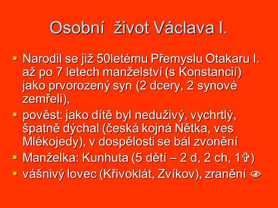 Osobní život Václava I.