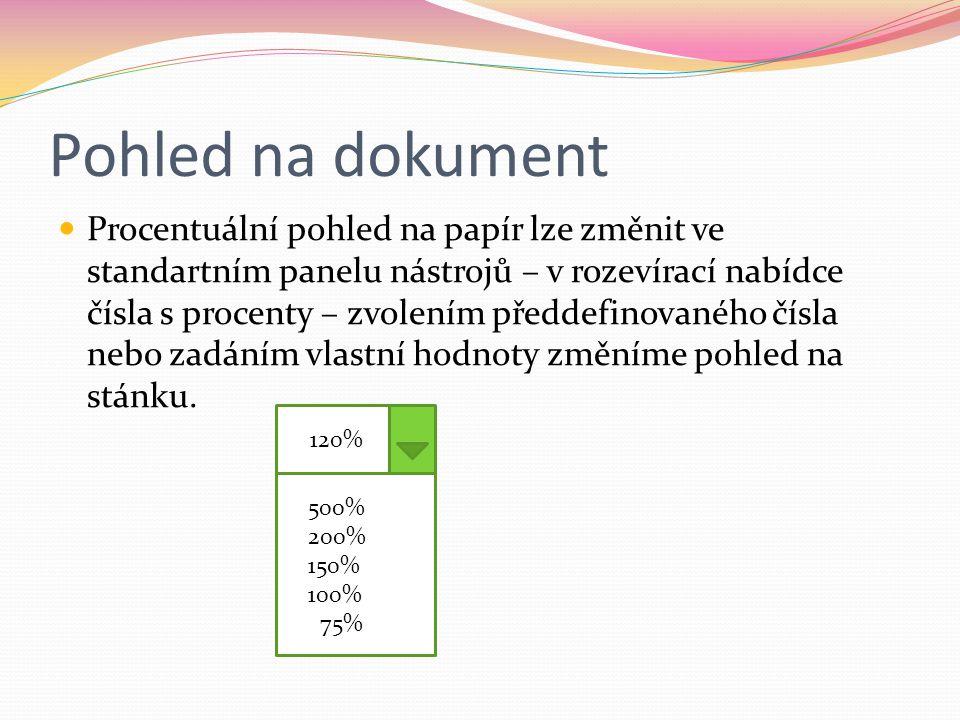 Pohled na dokument