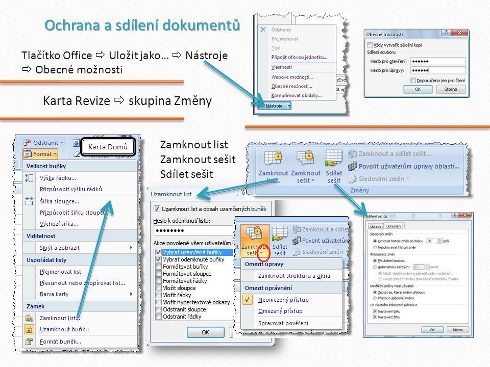 Ochrana a sdílení dokumentů