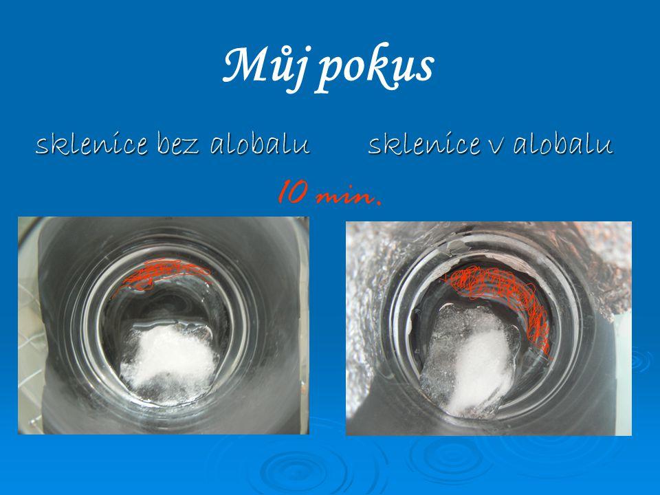 Můj pokus sklenice bez alobalu sklenice v alobalu 10 min.