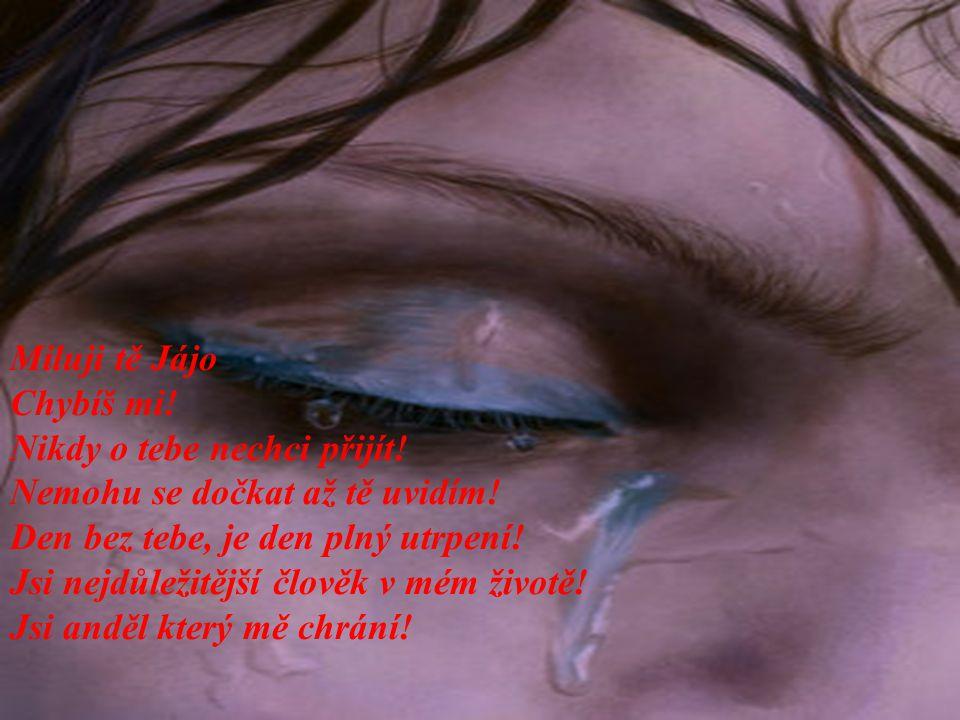 Miluji tě Jájo Chybíš mi! Nikdy o tebe nechci přijít! Nemohu se dočkat až tě uvidím! Den bez tebe, je den plný utrpení!