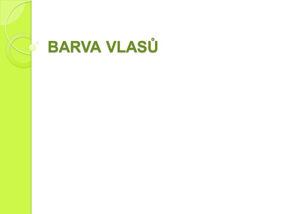 BARVA VLASŮ