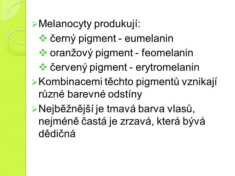 Melanocyty produkují: