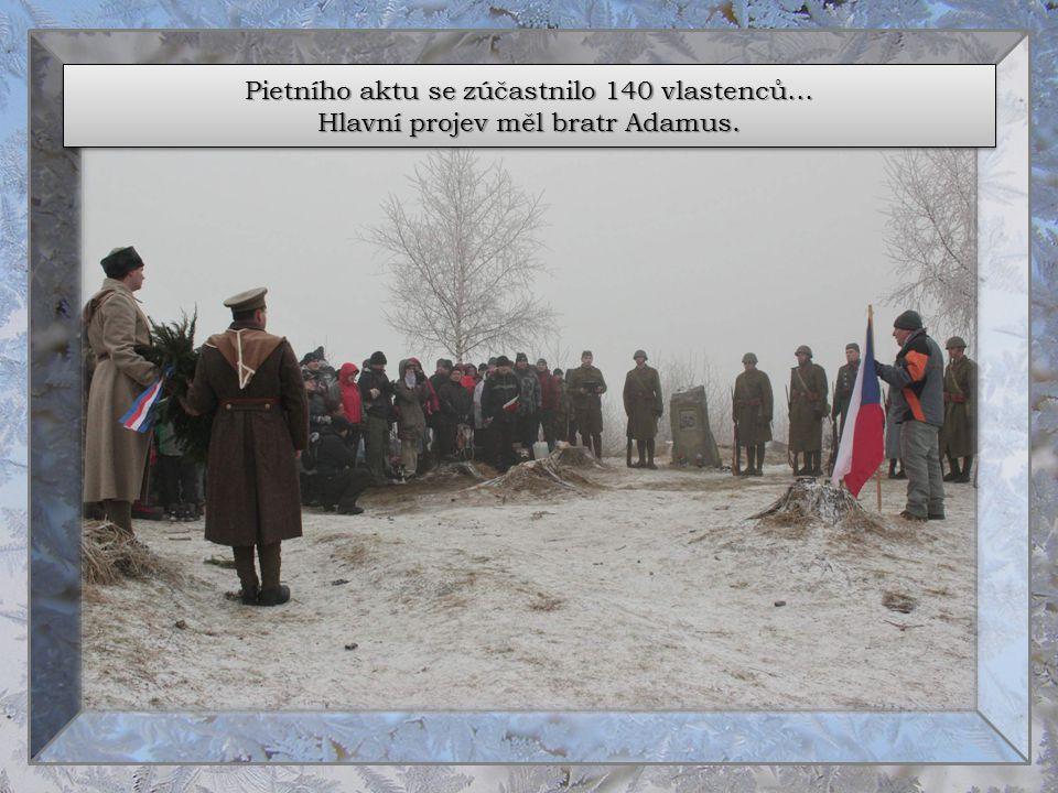 Pietního aktu se zúčastnilo 140 vlastenců…