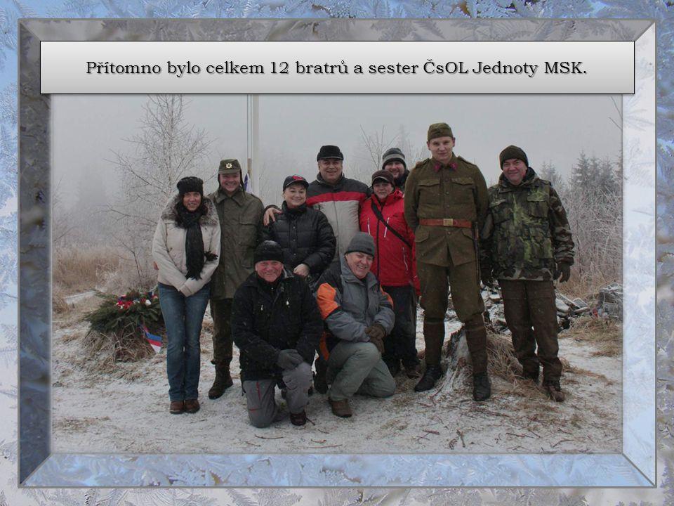 Přítomno bylo celkem 12 bratrů a sester ČsOL Jednoty MSK.