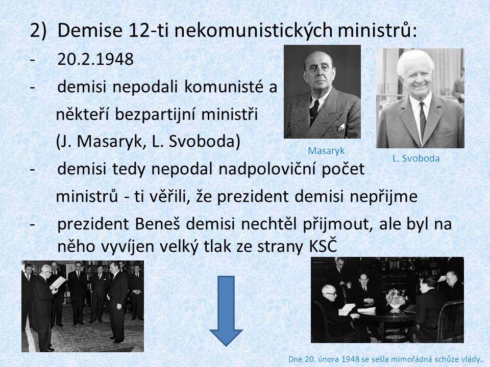 Demise 12-ti nekomunistických ministrů: