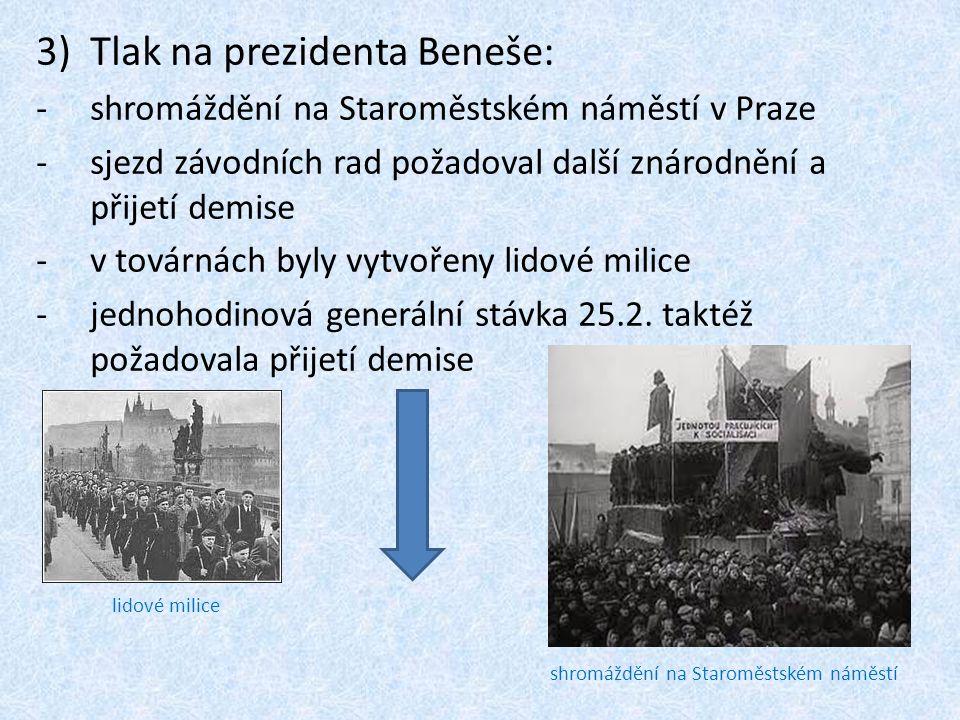 Tlak na prezidenta Beneše: