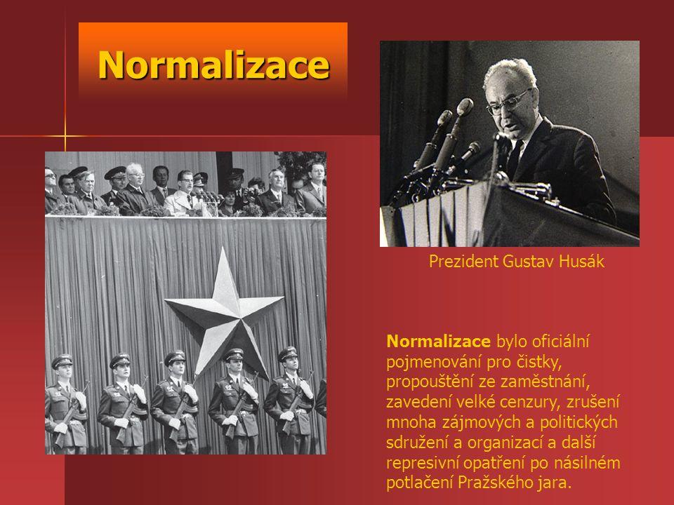 Normalizace Prezident Gustav Husák