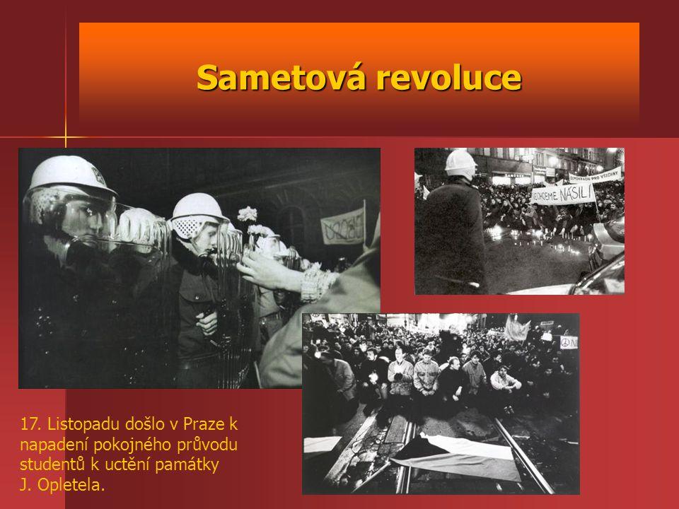 Sametová revoluce 17.