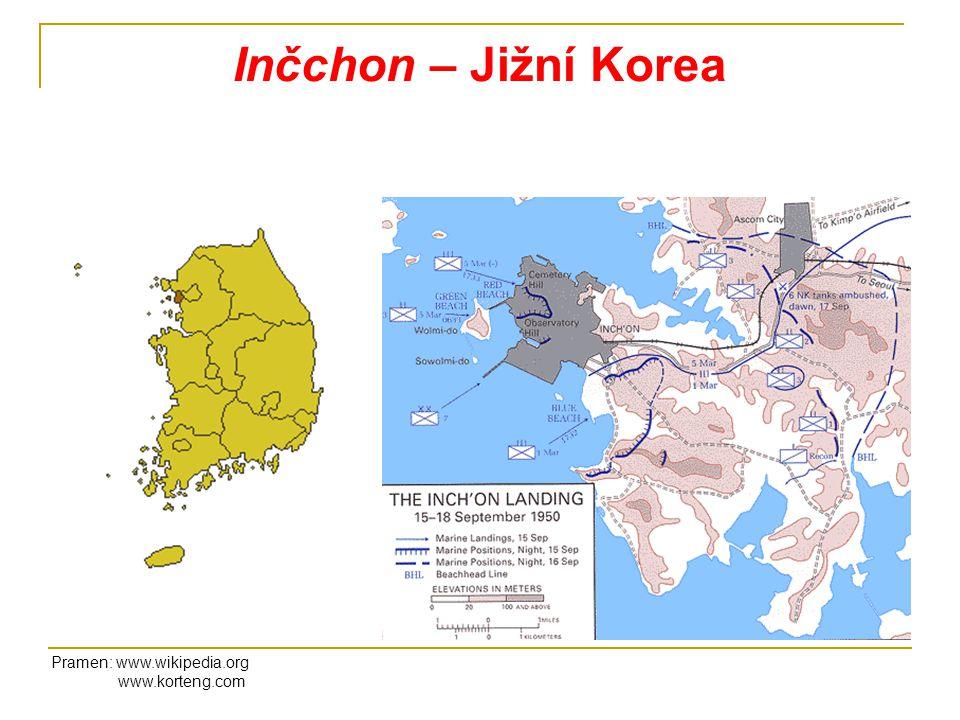 Inčchon – Jižní Korea Pramen: www.wikipedia.org www.korteng.com
