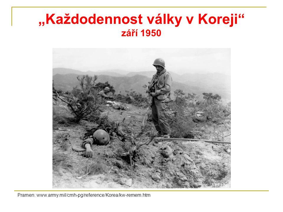 """""""Každodennost války v Koreji září 1950"""
