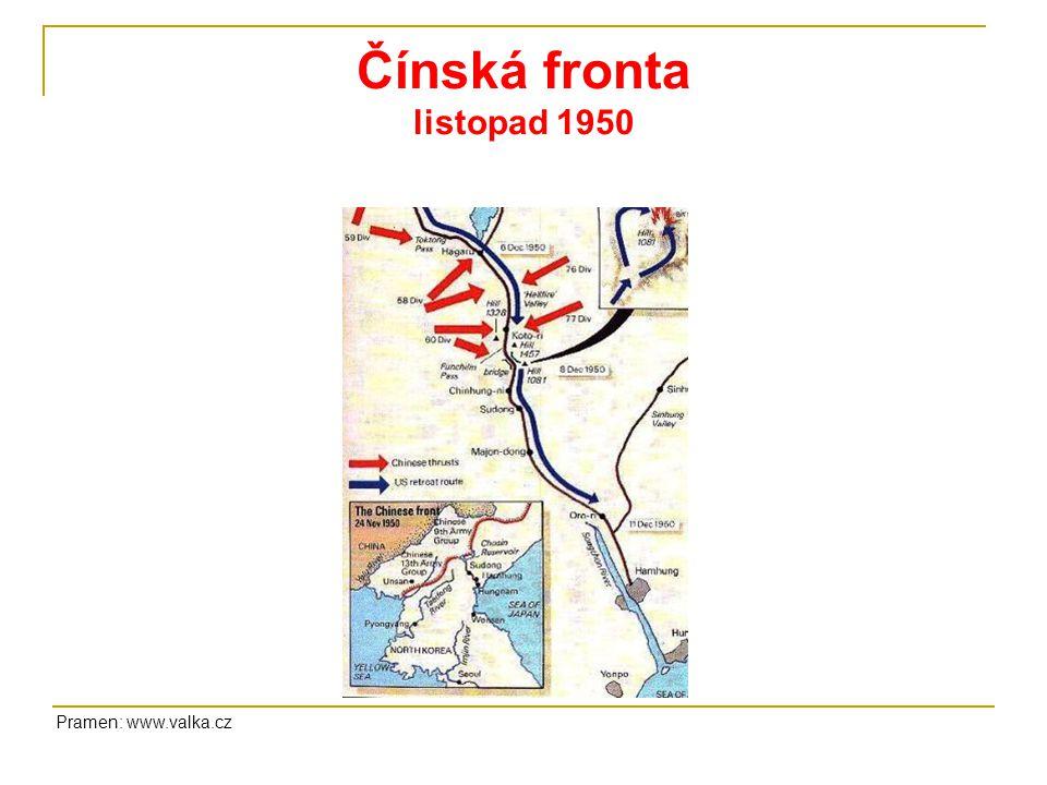 Čínská fronta listopad 1950