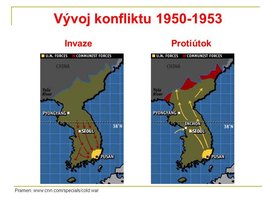 Vývoj konfliktu 1950-1953 Invaze Protiútok