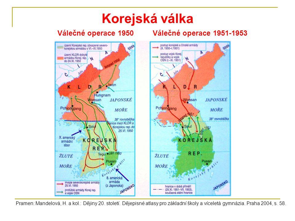 Korejská válka Válečné operace 1950 Válečné operace 1951-1953