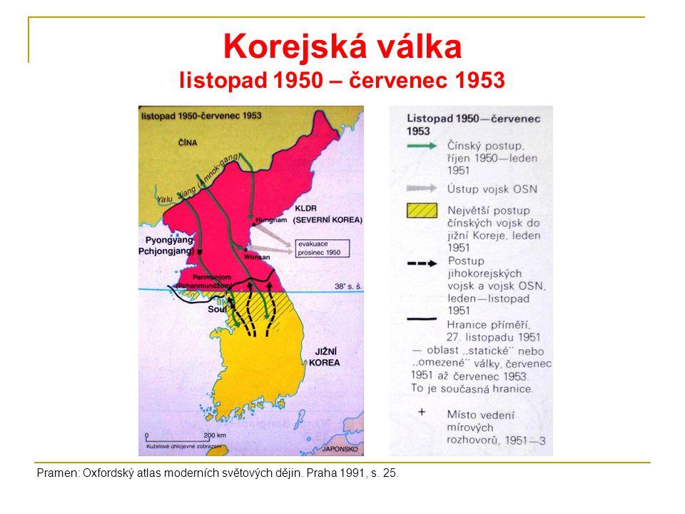 Korejská válka listopad 1950 – červenec 1953