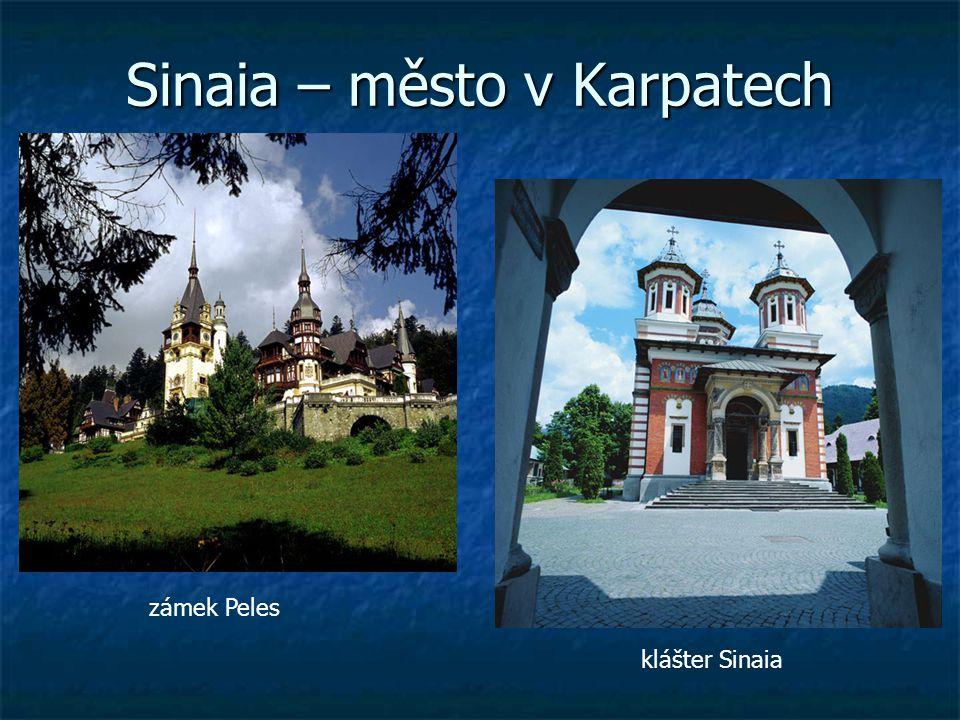 Sinaia – město v Karpatech
