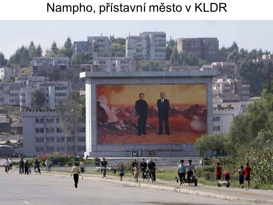 Nampho, přístavní město v KLDR