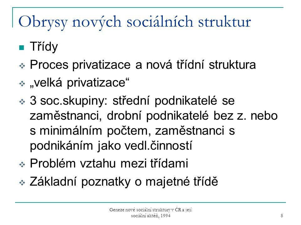 Obrysy nových sociálních struktur