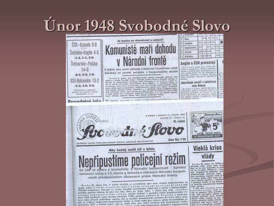 Únor 1948 Svobodné Slovo