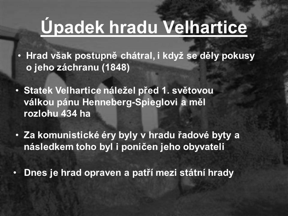 Úpadek hradu Velhartice