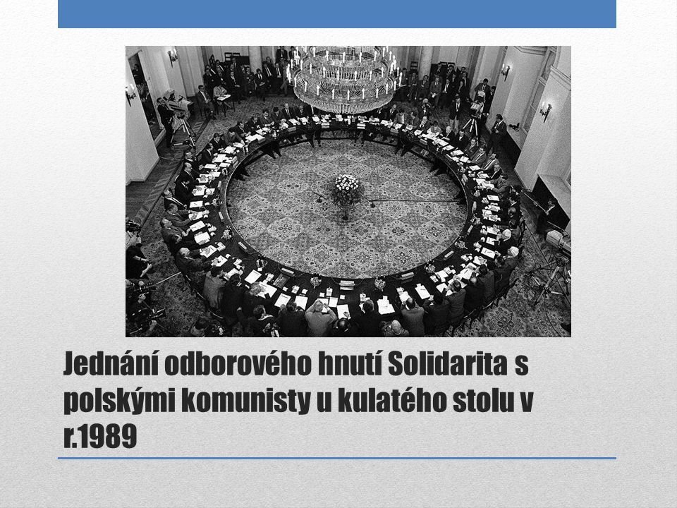 Jednání odborového hnutí Solidarita s polskými komunisty u kulatého stolu v r.1989