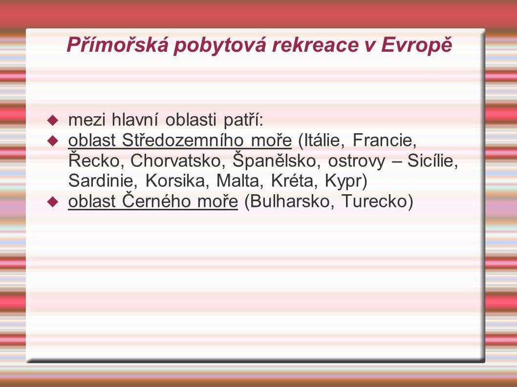 Přímořská pobytová rekreace v Evropě