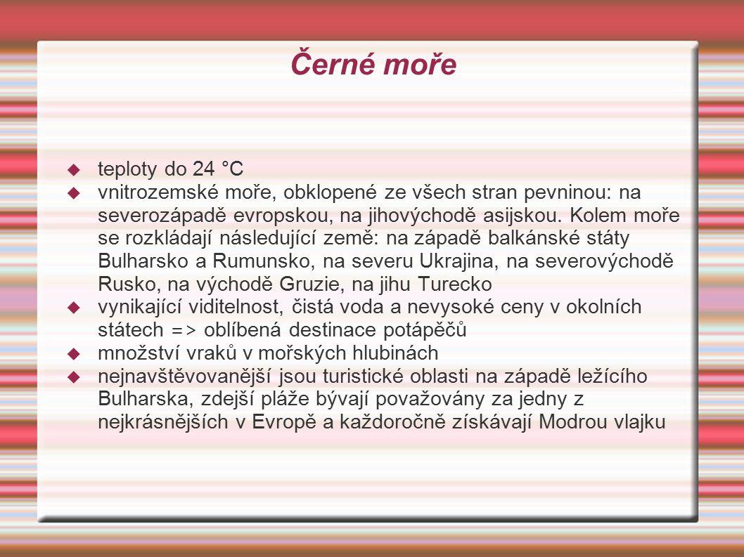 Černé moře teploty do 24 °C