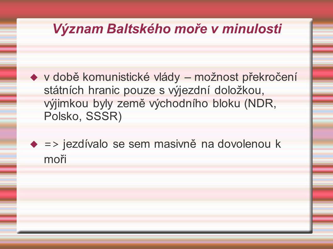 Význam Baltského moře v minulosti