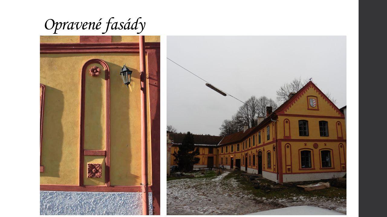 Opravené fasády