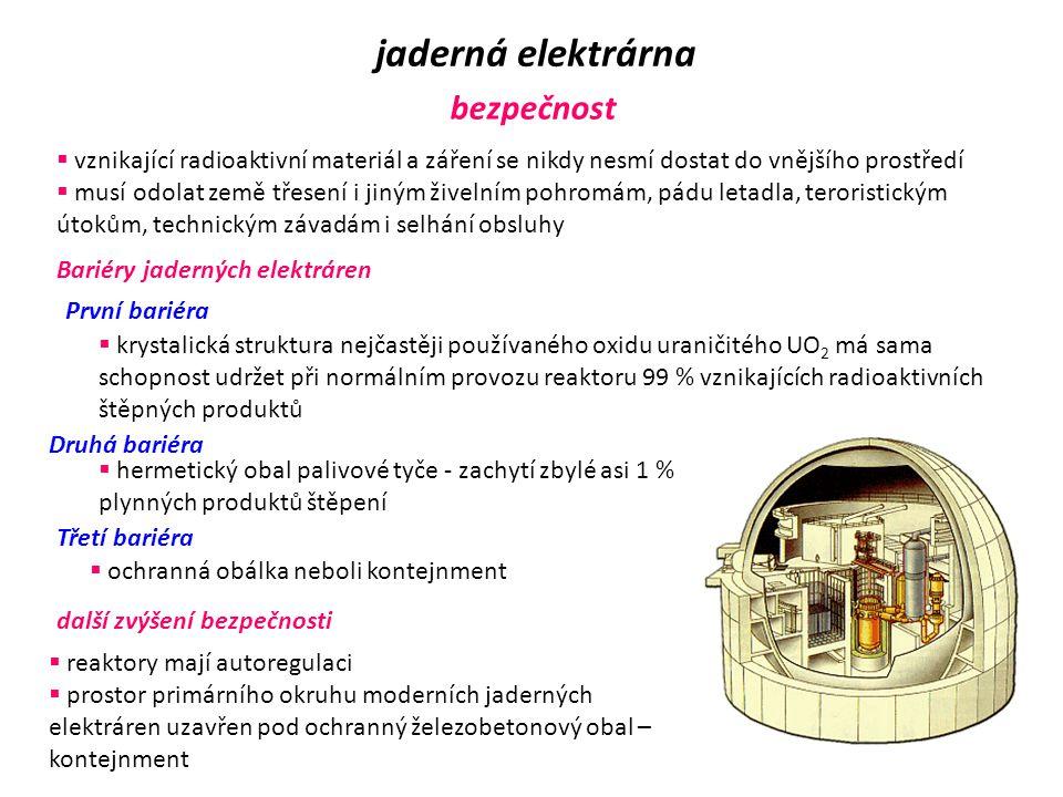 jaderná elektrárna bezpečnost