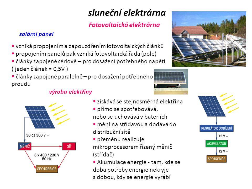 sluneční elektrárna Fotovoltaická elektrárna solární panel
