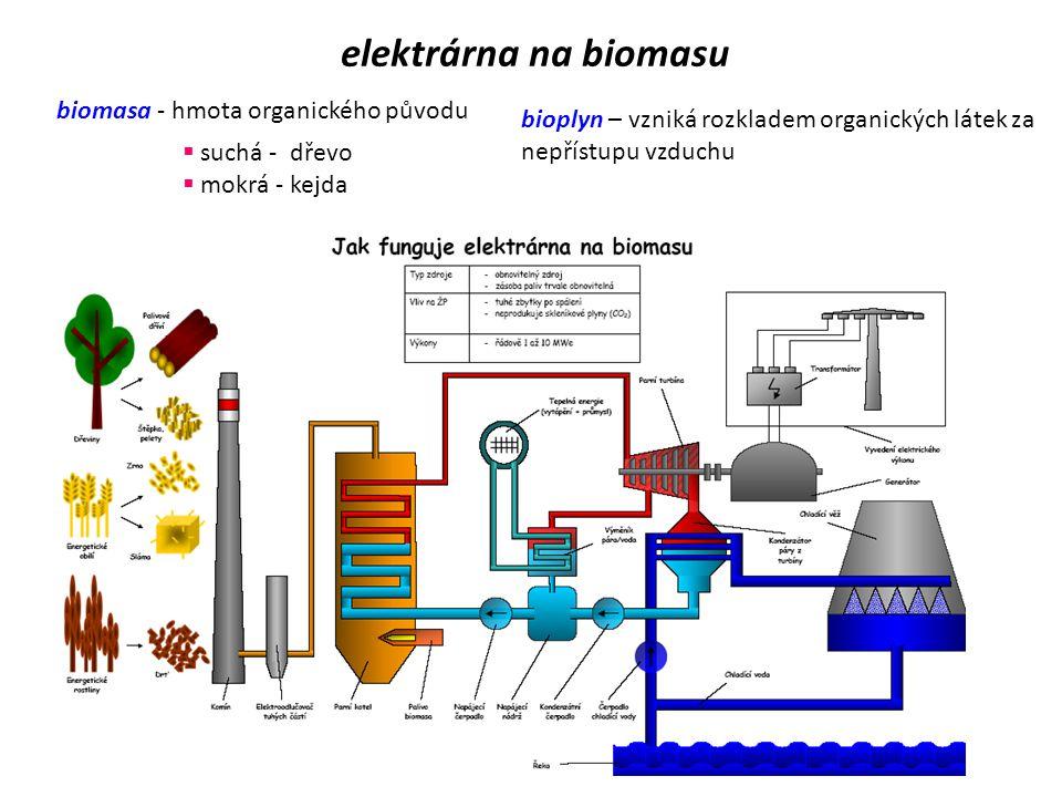 elektrárna na biomasu biomasa - hmota organického původu